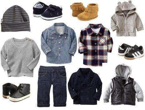 My kind of style for boy clothes :) City Threads, Gap, adidas, Minnetonka, Ralph Lauren