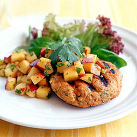 Salmon Burgers w/ Peach Salsa - Enjoy this recipe and For great motivation, health and fitness tips, check us out at: www.betterbodyfitnessbootcamps.com Follow us on Facebook at: www.facebook.com/betterbodyfitnessbootcamps