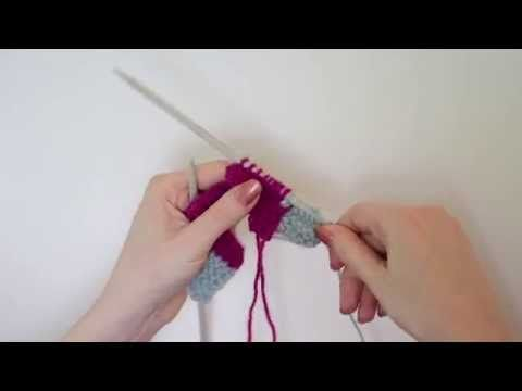 (2) Knit Tips: Joining stitches perpendicular to a previously worked row - YouTube