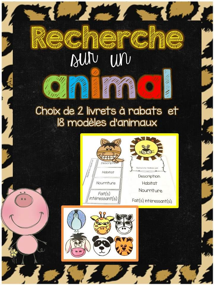 Create a fun Flipbook that your students will be proud to take home! This product includes everything you need to complete an engaging interactive Notebook for an animal report.    It includes :   - 2 different flipbook templates with categories : description, habitat, food, interesting  facts.  - 23 différents animal templates