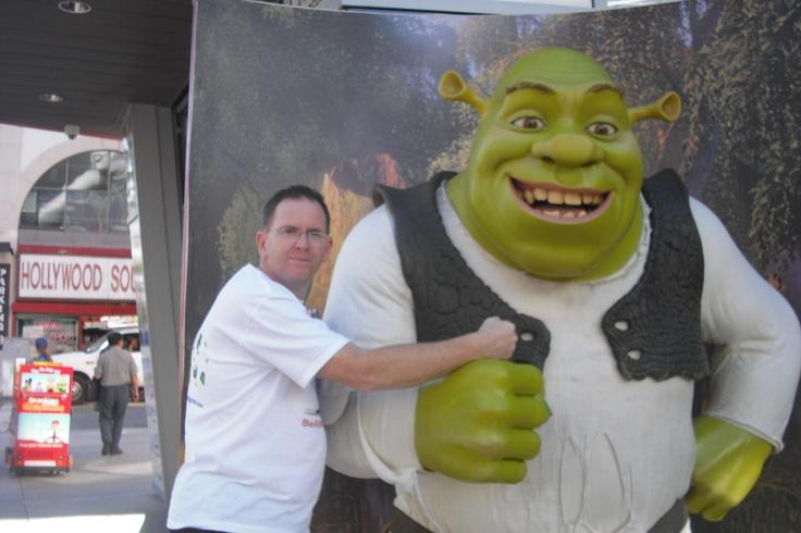 My new friend Shrek in Hollywood