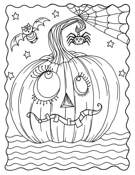 GOOFY Pumpkin coloring page digital download, instant ...