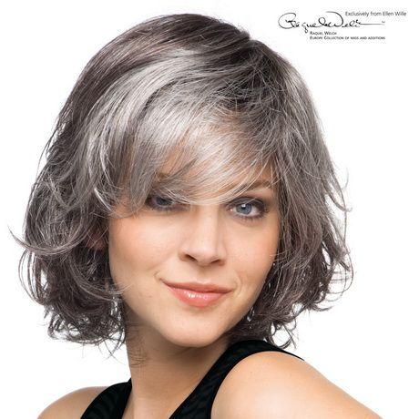 Graue haare strähnchen