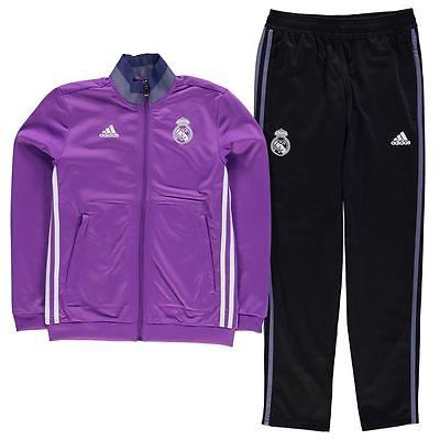 Adidas kids real madrid #presentation #track suit junior boys football top #botto,  View more on the LINK: 	http://www.zeppy.io/product/gb/2/391554841688/