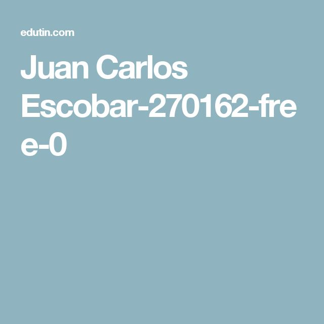 Juan Carlos Escobar-270162-free-0
