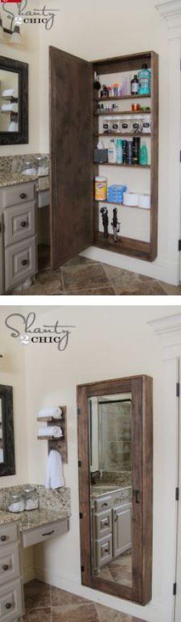 DIY: Bathroom Mirror Storage Case