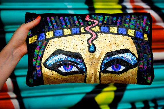Elizabeth Taylor Cleopatra Egyptian Sequin Clutch Bag from King Sophie's World! :)