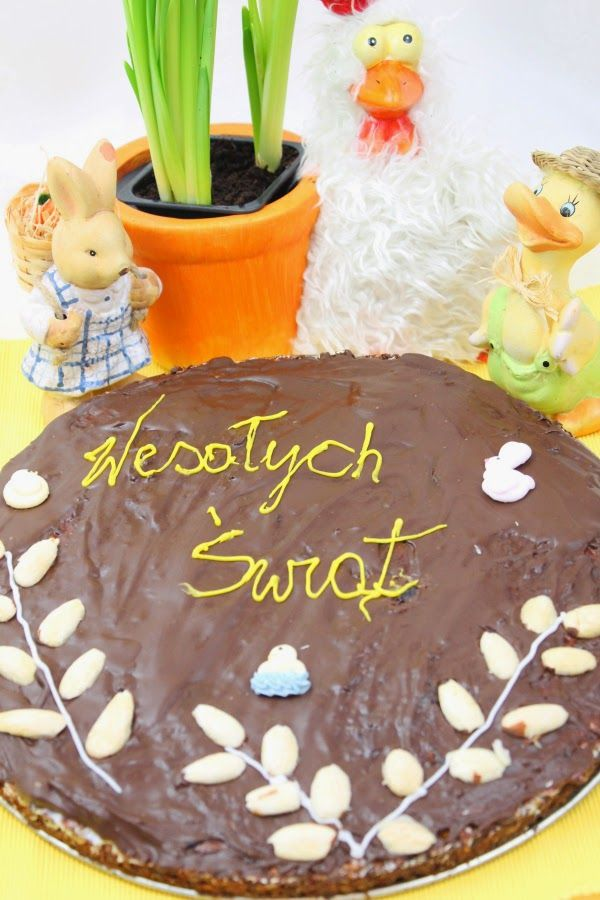 Kuchnia w wersji light: Mazurek owsiany z polewą czekoladową