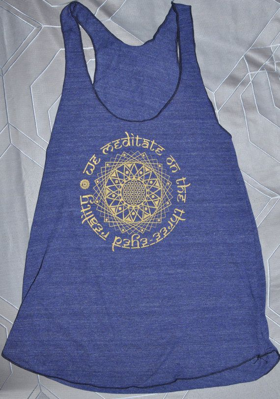 Shiva Yoga Tank by thirdEYEup on Etsy