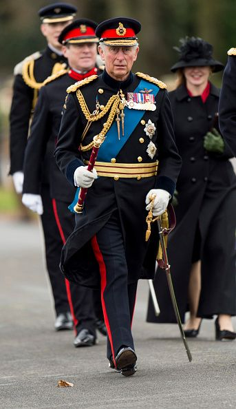 HRH the Prince of Wales attending the Sovereigns Parade at the Royal Military Academy Sandhurst