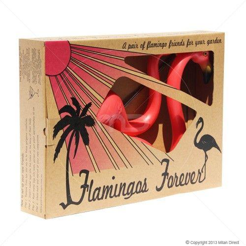 $45 Milan Direct Set of 2 - Pink Flamingos - Garden Ornaments