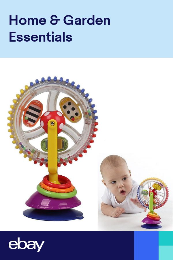 Kids Educational Toy Rainbow Ferris Wheel Rattle Clanking Suction High Chair