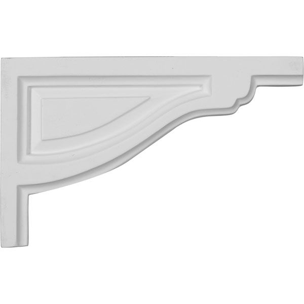 8-Inch W x 5-Inch H x 1/2-Inch D Small Traditional Stair Bracket, Right