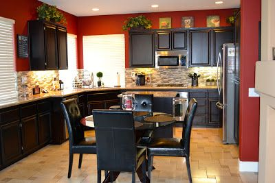 really missing my red kitchen.....LOVE the Italian feel of this color...maybe our new kitchen color!