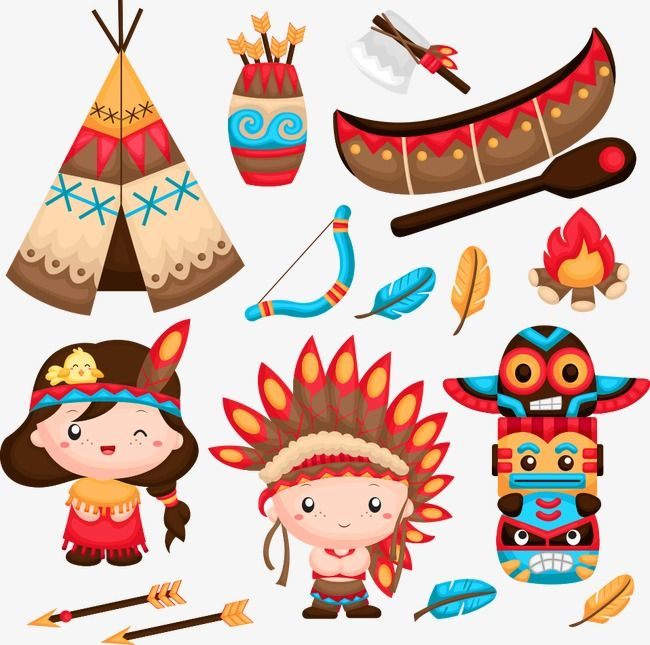 Vector Indiana And Bows Indians Bow And Arrow Cartoon Archer Png Transparent Clipart Image And Psd File For Free Download Indian Illustration Native Indian Animal Nursery Mobile