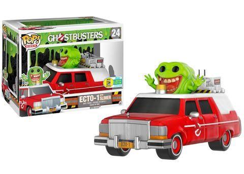 Ghostbusters 2016 POP! Rides Vinyl Fahrzeug mit Figur ECTO-1 & Slimer SDCC 2016 Exclusive 18 cm