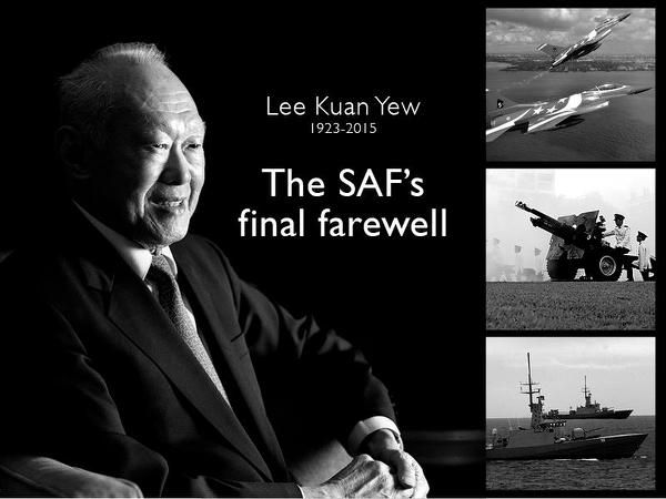 Highest honours from Singapore Armed Forces for Lee Kuan Yew's final farewell - Yahoo News Singapore