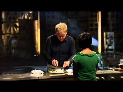 Blind chef Christine Ha - Vietnamese Catfish - MasterChef USA Audition Season 3 Episode 1. She put aside her degree studies to enter the competition...I think she won.