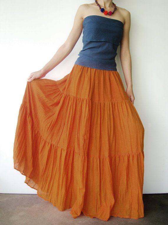 Boho Tiered Maxi Skirt