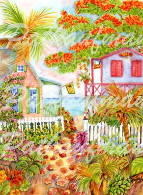 cottages and beach living paintings Life Living on the Beach