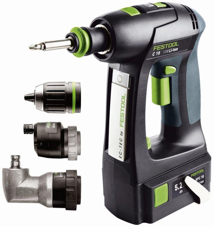 564616, Festool C18 Li-Ion Cordless Drills SET