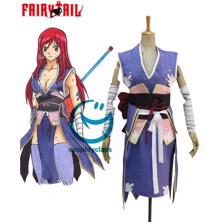 Fairy Tail Titania Erza Scarlet Forever Empress Armor Kimono Cosplay Costume  #FairyTail #ErzaScarlet #Cosplay #Costume