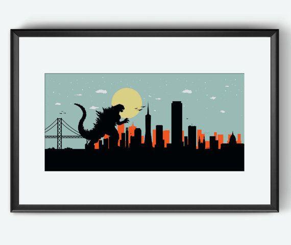 San Francisco Skyline print The monster San by SKYWORLDPROJECT