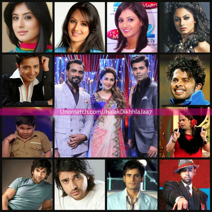 Jhalak Dikhhla Jaa is a television reality show and the Indian version of BBC's Strictly Come Dancing . The hosts are Ranvir Shorey and Drashti Dhami. Remo D'souza, Madhuri Dixit, Maksim Chmerkovskiy and Karan Johar are the judges. The contestants are S. Sreesanth, Sophie Choudry, Purab Kohli, Karan Tacker, Mouni Roy, Kritika Kamra, Kiku Sharda, VJ Andy, Shakti Mohan, Sukhwinder Singh, Akshat Singh, Ashish Sharma and Pooja Bose like http://www.unomatch.com/jhalakdikhhlajaa7/