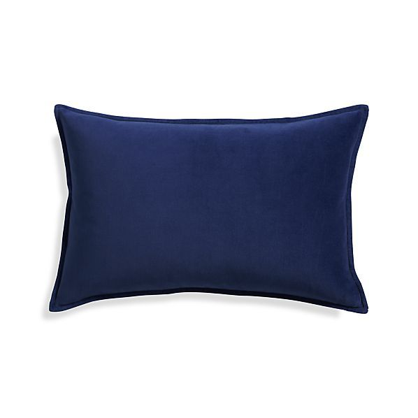 Crate And Barrel Decorative Pillow Covers : Buckley Sapphire 24