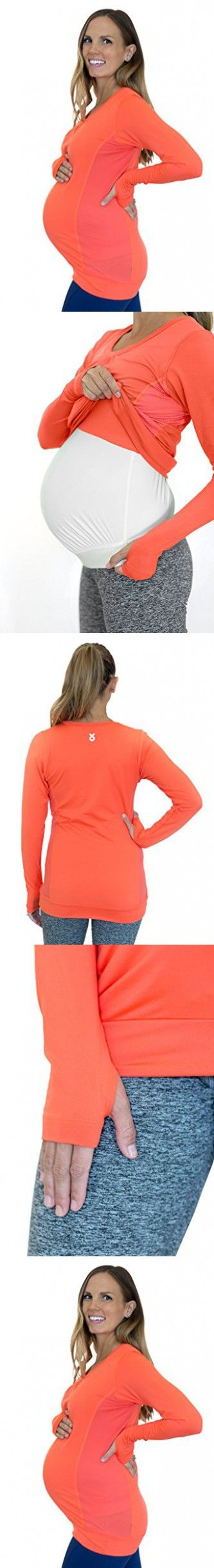 Mumberry Maternity Activewear Dynamic Long Sleeve Shirt with Belly Band Support