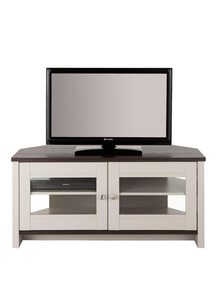 Consort Tivoli Ready Assembled Corner TV Unit - fits up to 52 inch TV   very.co.uk
