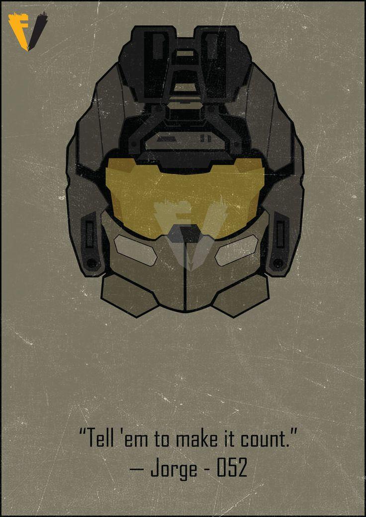 Halo Reach Jorge Helmet Poster by FALLENV3GAS on DeviantArt