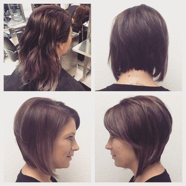 #hair #haircut #hairstyle #cosmetology #beautyschool #bob #graduatedbob #ToniAndGuy #tigi @toniguycosacademy