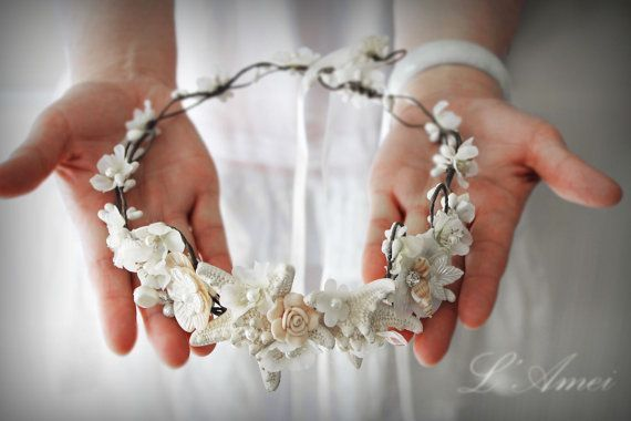 Starfish and Seashell Bridal Headpiece Wedding Circlet Crown Perfect For A Beach Wedding on Etsy, $70.21