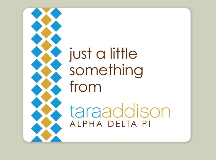 Classic Labels in ADPi colors and letters make gift giving a breeze!