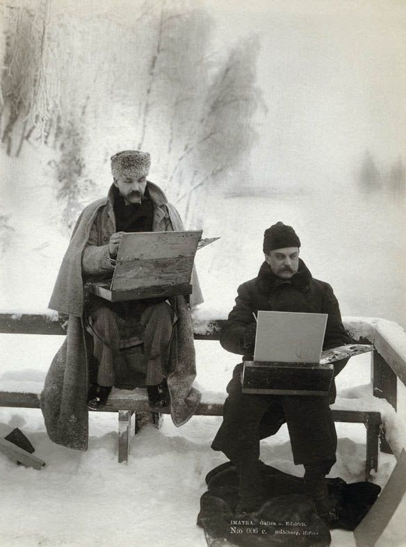 Akseli Gallen-Kallela (1865-1931) and Albert Edelfelt (1854-1905) in 1893.