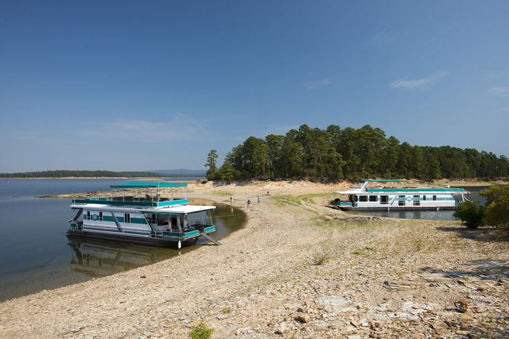 Explore the many islands of lake ouachita when you