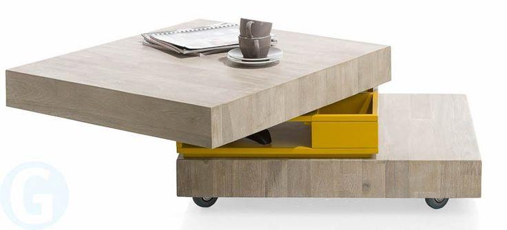 De Groot Wonen - Salontafel Multiplus 70 x 80 - Salontafels - de grootste keuze in meubels, banken en fauteuils.