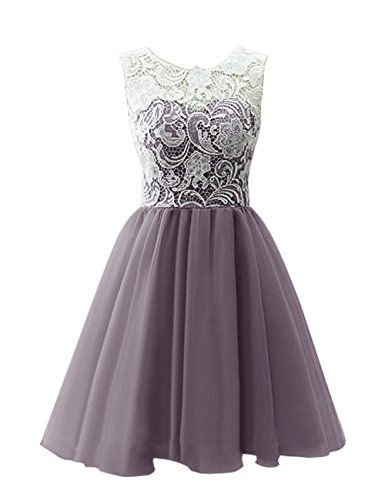 Dresstells® Short Tulle Prom Dress Bridesmaid Homecoming Gown with Lace Dresstells http://www.amazon.co.uk/dp/B00R2OJMBU/ref=cm_sw_r_pi_dp_RxD.wb1G5S6FE