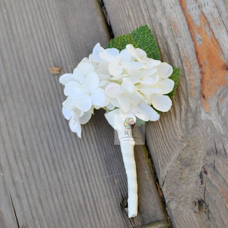 Wedding Boutonnieres Artificial White Pink Blue Hydrangea Groom Groomsman Pin brooch Corsage Decor Flower Accessories(China (Mainland))