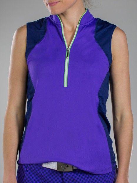 Malbec new violet jofit ladies plus size magnum for Plus size sleeveless golf shirts