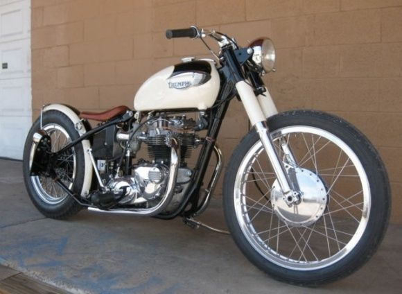 1978 triumph bonneville 1966 hardtail frame bobber motorcycle for sale front