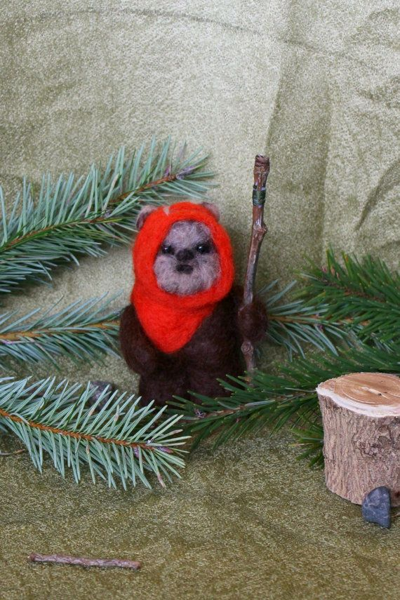 Needle Felted Ewok Wicket Ewok Star Wars felt by JensFeltedJems
