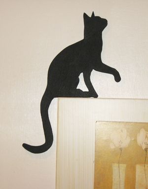 Cat looking up for picture or door topper