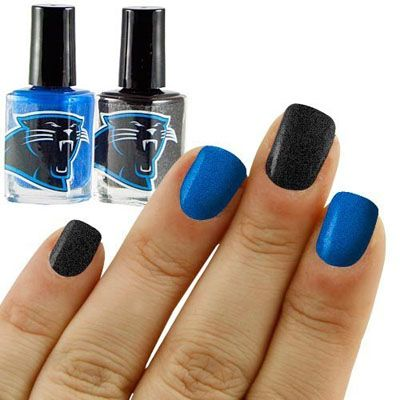 19NFL Carolina Panthers Two-Pack Team Colored Nail Polish