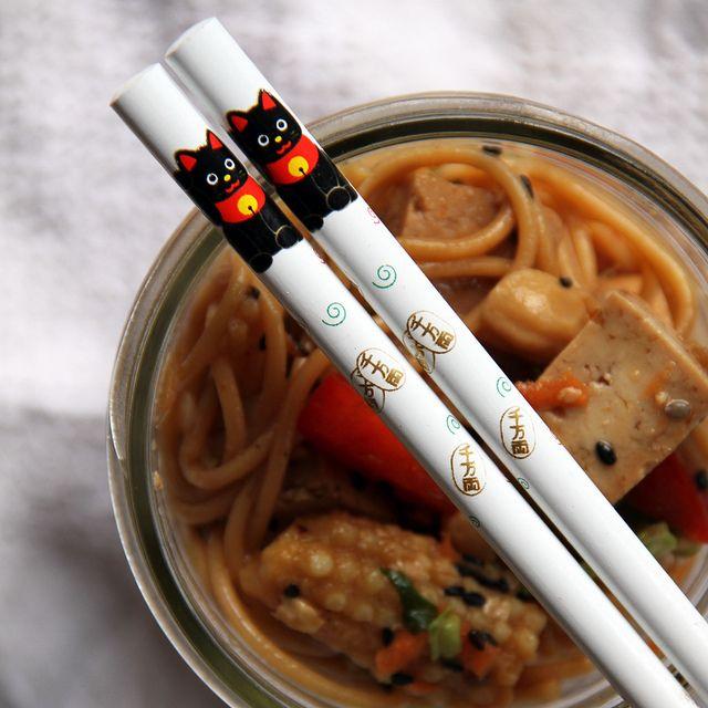 Jar Lunch: Sesame Noodle Salad with Ginger Tofu Cubes | krista and ...