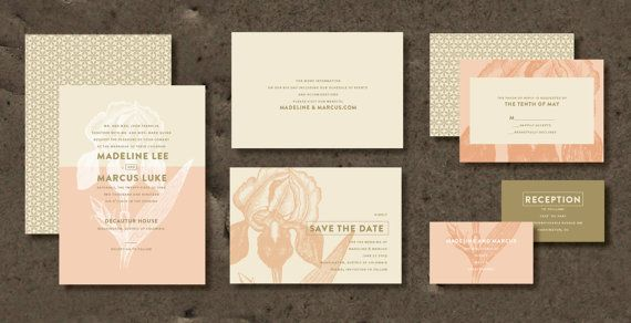 EPOQUE Wedding Invitation Set Save the date RSVP by INVITALIA