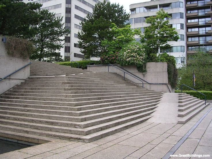 Robson Square by Arthur C. Erickson, at Vancouver, British Columbia, 1980