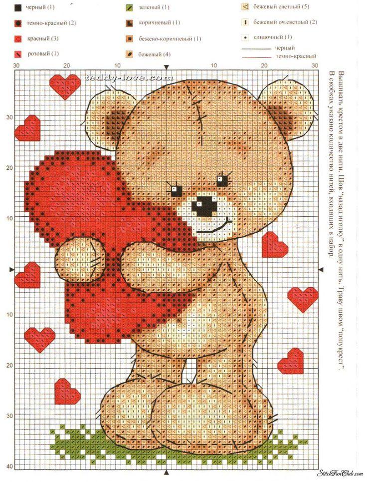 схемы вышивки крестом мишки тедди цветные: 25 тыс изображений найдено в Яндекс.Картинках
