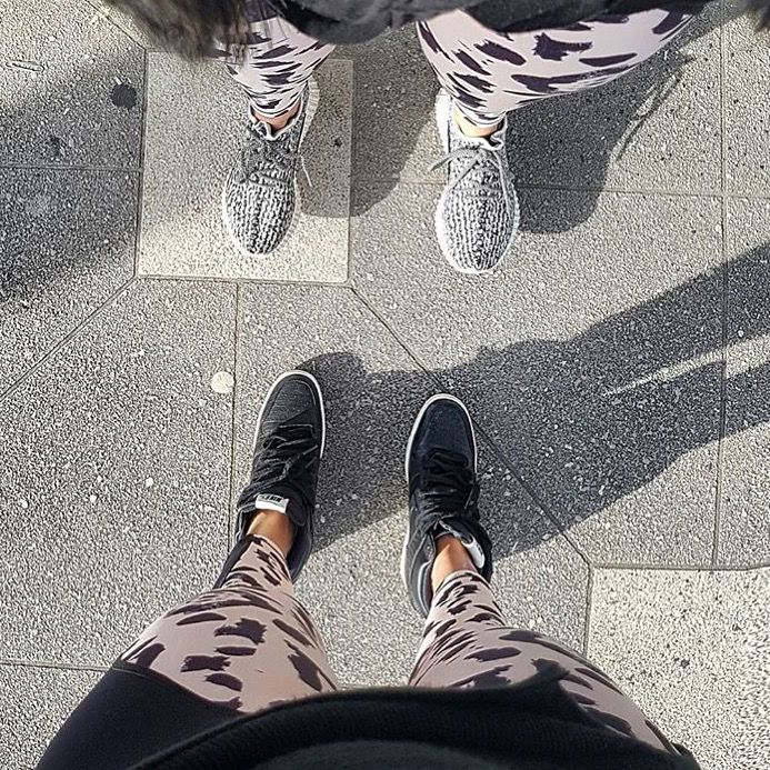 Besties in matching Paradox Activewear Tights